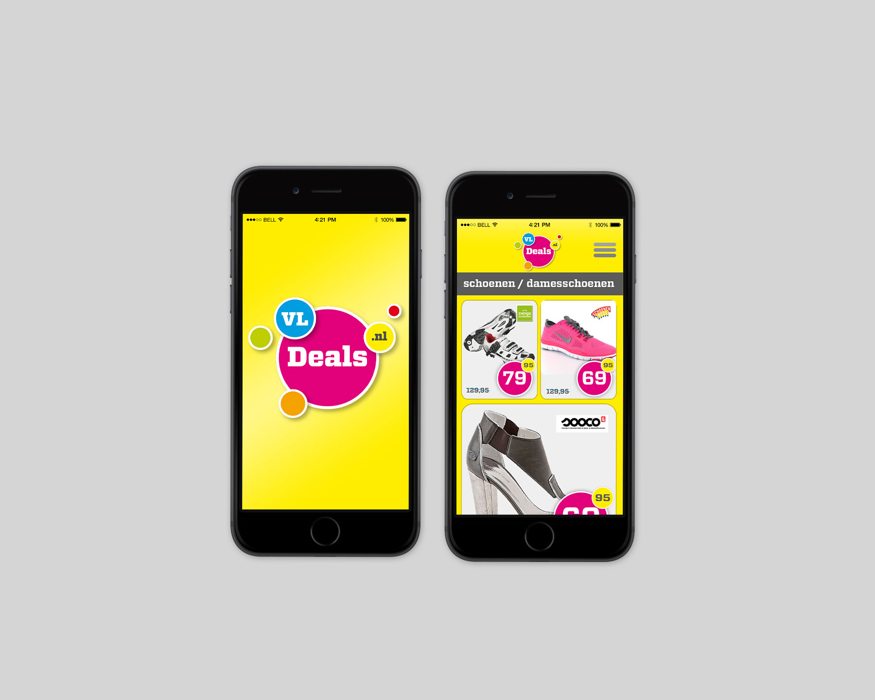 Iphone met app VLDDeals